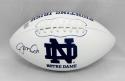 Joe Montana Autographed Notre Dame Fighting Irish Logo Football- JSA W Auth