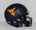 Kevin White Autographed West Virginia Mountaineers Blue F/S Helmet- JSA W Auth
