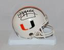 Jim Kelly Autographed Miami Hurricanes Mini Helmet- JSA Witnessed Auth