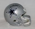 Tony Dorsett Autographed *Blk Dallas Cowboys F/S Silver Helmet- JSA Witnessed Auth