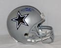 Emmitt Smith Autographed *Blue Dallas Cowboys F/S Silver Helmet- PSA/DNA Auth
