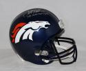 Terrell Davis Autographed *Silver Denver Broncos F/S Helmet W/SB MVP- JSA W Auth