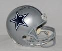 Troy Aikman Autographed *Black F/S Silver Dallas Cowboys Helmet- JSA W Auth