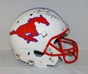 Eric Dickerson Autographed SMU Mustangs F/S Helmet W/ Pony Express- JSA W Auth