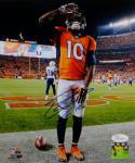 Emmanuel Sanders Autographed Denver Broncos 8x10 Saluting PF. Photo- JSA W Auth