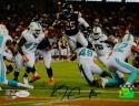 Ka'Deem Carey Autographed Chicago Bears 8x10 Leaping for TD Photo- JSA W Auth