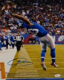 Odell Beckham Autographed 11x14 One Hand Catch Vertical Photo- JSA W Auth