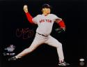 Curt Schilling Autographed In Red 16x20 Horizontal Pitching Photo- JSA W Auth