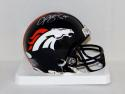 Champ Bailey Autographed Denver Broncos Mini Helmet- JSA Witnessed Auth
