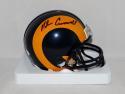 Nolan Cromwell Autographed Los Angeles Rams TB Mini Helmet- JSA Witnessed Auth