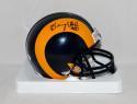 Henry Ellard Autographed Los Angeles Rams TB Mini Helmet- JSA Witnessed Auth