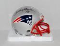 Curtis Martin Autographed *Black New England Patriots Mini Helmet- JSA W Auth
