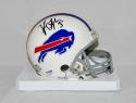 Tyrod Taylor Autographed Buffalo Bills White Mini Helmet- PSA/DNA Authenticated