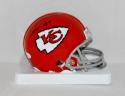 Len Dawson Autographed *Black Kansas City Chiefs Mini Helmet W/ HOF- JSA W Auth