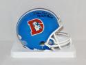Dan Reeves Signed *Blk Denver Broncos TB Mini Helmet W/ AFC Champs- JSA W Auth