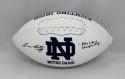 Lou Holtz Autographed Notre Dame Logo Football W/ Play Like A Champ- JSA W Auth