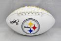 Heath Miller Autographed Pittsburgh Steelers Logo Football- JSA Witnessed Auth