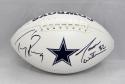 Tony Romo Jason Witten Autographed Dallas Cowboys Logo Football- JSA W Auth