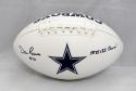 Dan Reeves Autographed Dallas Cowboys Logo Football W/ SB Champs- JSA W Auth