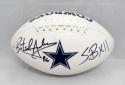 Butch Johnson Autographed Dallas Cowboys Logo Football W/ SB- JSA Witnessed Auth