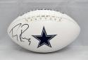 Tony Romo Autographed Dallas Cowboys Logo Football- JSA Witnessed Authenticated