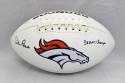 Dan Reeves Autographed Denver Broncos Logo Football W/ AFC Champs- JSA W Auth