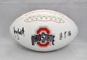 Troy Smith Autographed Ohio State Buckeyes Logo Football W/ H.T.- JSA W Auth