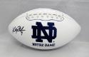 Kyle Rudolph Autographed Notre Dame Fighting Irish Logo Football- JSA W Auth