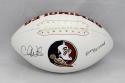 Chris Weinke Autographed Florida State Logo Football W/ Heisman- JSA W Auth