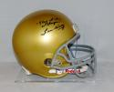 Lou Holtz Signed Notre Dame F/S Riddell Helmet W/ Play Like A Champ- JSA W Auth