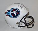 Eddie George Autographed Tennessee Titans Full Size Helmet- JSA Witnessed Auth