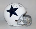 Tony Romo Autographed Dallas Cowboys White Full Size Helmet- JSA Witnessed Auth