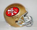 Joe Montana Dwight Clark Autographed 49ers F/S Helmet W/ The Catch- TriStar Auth