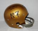 Roger Staubach Signed Navy Midshipmen Historic TK Helmet W/ Heisman- JSA W Auth