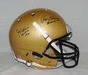 Roger Staubach Joe Bellino Heisman Signed Navy Midshipmen F/S Helmet- JSA W Auth