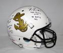 Keenan Reynolds Autographed Navy Midshipmen F/S White Helmet W/ Stats- JSA W Auth