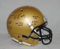 Keenan Reynolds Autographed Navy Midshipmen F/S Gold Helmet W/ Stats- JSA W Auth