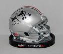 Troy Smith Autographed Ohio State Buckeyes Mini Helmet W/ HT- JSA Witnessed Auth