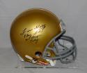 Lou Holtz Signed Notre Dame F/S ProLine Helmet W/ Play Like A Champ- JSA W Auth