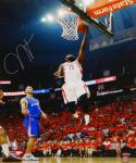 James Harden Autographed 16x20 Rockets Against Clippers Photo- TriStar Auth