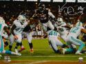 Ka'Deem Carey Autographed Chicago Bears 16x20 Leaping for TD Photo- JSA W Auth