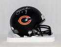 Jim McMahon Autographed Chicago Bears Mini Helmet- JSA Witnessed Auth