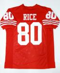Jerry Rice Autographed Red Pro Style Jersey- JSA Authenticated