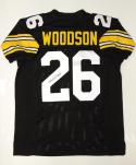 Rod Woodson Autographed Black Pro Style Jersey- JSA Witnessed Authenticated