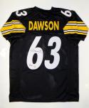 Dermontti Dawson Autographed Black Pro Style Jersey W/ HOF- JSA Witnessed Auth