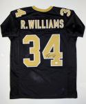 Ricky Williams Autographed Black Pro Style Jersey- JSA Witnessed Authenticated