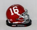 Eddie Lacy Alabama Crimson Tide Schutt Mini Helmet- JSA Witnessed Authenticated