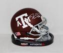 Ryan Tannehill Signed *Silver Texas A&M Aggies Maroon Mini Helmet- JSA W Auth