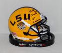Billy Cannon Autographed LSU Tigers Schutt Mini Helmet W/ Heisman- JSA W Auth
