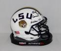 Billy Cannon Signed LSU Tigers Schutt White Mini Helmet W/ Heisman- JSA W Auth